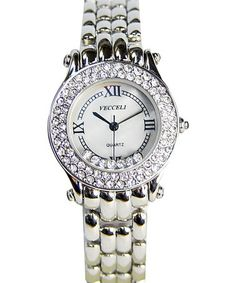 $29.99 ~ WOW ~Take a look at this Silver Crystal Link Watch by Vecceli Italy  today!