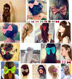 """""""hair styles with a bow!!"""" by crazycatlady24 ❤ liked on Polyvore"""