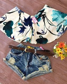 Disponível na Loja Short Destroyed✨TAM.34 ao 38✨$59,99 Croped Morcego✨TAM.U✨$38,00 Summer Fashion Outfits, Dressy Outfits, Short Outfits, Stylish Outfits, Girl Outfits, Look Con Short, Look Fashion, Womens Fashion, Denim Shorts Outfit