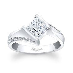 Barkev's Designer 14k Gold Princess-cut Diamond Engagement Ring
