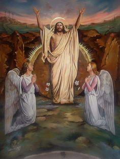 Christ Is Risen, Christ The King, Religious Images, Religious Art, Christ Tattoo, Pictures Of Jesus Christ, Jesus Painting, Jesus Resurrection, Jesus Art