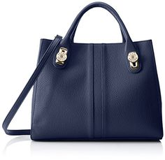 Tommy Hilfiger Elaine Shopper Convertible Top Handle Bag, Navy, One Size ** To view further, visit