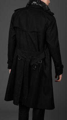 Burberry London Men Long Cotton Gabardine Trench Coat | Men's Fashion