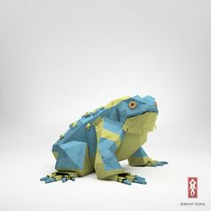 "The Paper Fox"", Jeremy Kool #paper #frog"