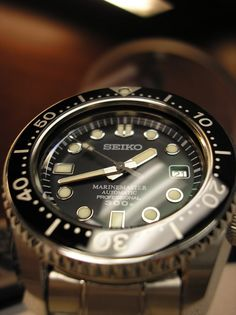 Marinemaster.  JDM 300m diver, high-beat movement.  Very accurate, amazing watch.
