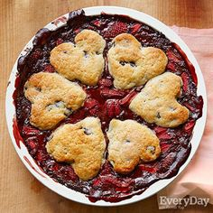 Chocolate-Dipped Strawberry Cobbler