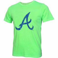 Majestic Threads Atlanta Braves Neon Tri-Blend T-Shirt - Neon Green