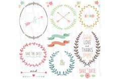 Check out Wedding Laurels Frame by YenzArtHaut on Creative Market