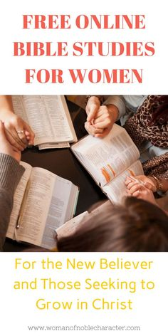 Dozens of free online Bible studies for women to help you grow closer to Him and His Word. Whether you are a new believer or seeking to know Him more, you will find a study that will help you in your walk. Bible Study Plans, Bible Study Guide, Free Bible Study, Online Bible Study, Bible Study Journal, Scripture Study, Christian Faith, Christian Living, Christian Women