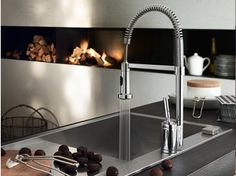 Chrome-plated 1 hole kitchen mixer tap BILLY | Kitchen mixer tap - Carlo Nobili S.p.A Rubinetterie