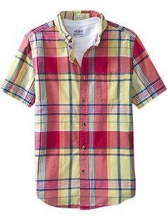 Men's Slim-Fit Plaid Shirts   Old Navy