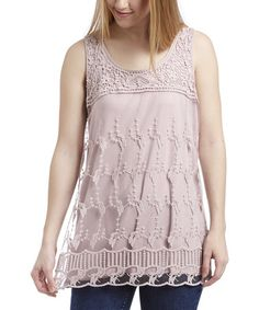 Another great find on #zulily! Blush Embroidered Tank #zulilyfinds
