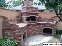 dadestire.ro - Gratar rustic de gradina din caramida Bbq Area, Backyard Bbq, My Dream, Mansions, House Styles, Cyprus, Estate, Outdoor, Pizza