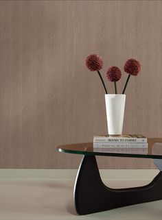 Wood Wallpaper in Soft Brown design by York Wallcoverings