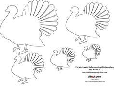 Turkey pattern use the printable outline for crafts creating 12 free printable templates pronofoot35fo Images