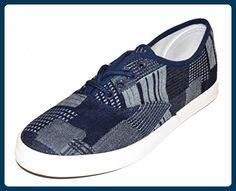 TMY 661-1 Damen Sneaker, Freizeitschuhe/ Schnürhalbschuhe, Farbe Navy- Grau. Gr.: 36-41 - Sneakers für frauen (*Partner-Link)