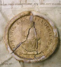 Wax seal – Siegel Kaiser Friedrich I. Barbarossa, Urkunde von 1153