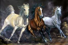 Horse Painting – Karahan Frame & Painting – Embossed and Canvas Painting Store - Zeichnung Oil Painting On Canvas, Painting Frames, Watercolor Paintings, Horse Drawings, Animal Drawings, Dotted Drawings, Decoupage Art, Colorful Animals, Equine Art