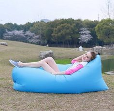 Amazon.com: Air Sleeping Bag,PortableFun® Outdoor Inflatable Lounger Air…