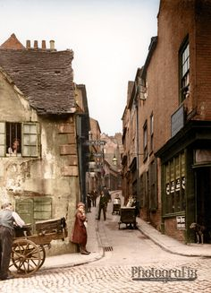 Drury Hill, Nottingham c1906.  Site of Broadmarsh Centre today.