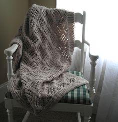 Afghan knitting pattern.