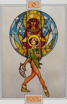 0. The Fool - Winged Spirit Tarot by David Sexton