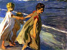 A Repository of Paintings - bofransson: Summer (study) Joaquin Sorolla y. Spanish Painters, Spanish Artists, Art For Art Sake, All Art, Portrait Art, Portraits, Summer Painting, Seascape Art, Beach Artwork