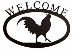 #Rooster #Welcome #Sign - Large http://www.okdecor.com/apps/search?q=rooster