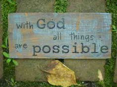 "Rustic Reclaimed Wood Art Sign with quote ""with God all things are possible""…"