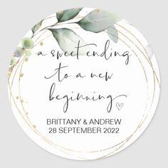Wedding Favor Treat Bag Jam Jar Sweet Beginning Classic Round Sticker Jam Wedding Favors, Wedding Favor Labels, Wedding Bag, Favor Tags, Wedding Decor, Gift Tags, Wedding Reception, Wedding Gifts, Dream Wedding