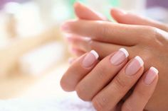 Nail Care Tips - Healthy Nails with the Right Care Nail Care Routine, Nail Care Tips, Nail Tips, French Nails, Ongles Gel French, French Polish, American Manicure Nails, American French Manicure, Grow Nails Faster