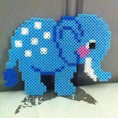 Elephant hama beads by pparlplattan
