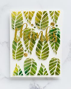 Watercoloured striped leaves thank you card by Debby Hughes using the new August release from Altenew. Find out more here: http://limedoodledesign.com/2017/08/altenew-august-2017-release-blog-hop-day-2-giveaway/