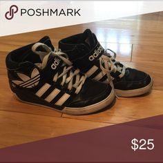 Women's / kids adidas size 6 Used but got some good mikes left . High tops great for dance fitness . Adidas Shoes Athletic Shoes