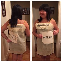 DIY Halloween costume - TEA BAG!