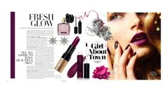 """Purple lipstick"" by yara-mikhael-deeb ❤ liked on Polyvore featuring beauty, Manna Kadar Cosmetics, Bee Goddess, Bobbi Brown Cosmetics, Victoria's Secret, Marc Jacobs and purplelipstick"