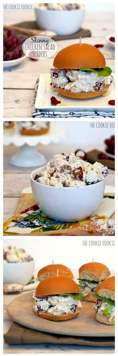 ~ Skinny Chicken Salad Sliders w/ Greek Yogurt. Healthy Chicken Salad ~ The Cookie Rookie....