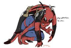Spider-Man and Deadpool. Spideypool. <3