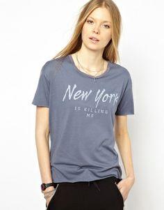 Zoe Karssen T-Shirt With NY Is Killing Me Print