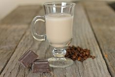 We've got a recipe to make your own version of Baileys Irish cream. It's so simple, and takes less than five minutes to make. Drinks Alcohol Recipes, Yummy Drinks, Wine Recipes, Alcoholic Drinks, Cocktails, Party Drinks, Yummy Recipes, Sweet Recipes, Yummy Food
