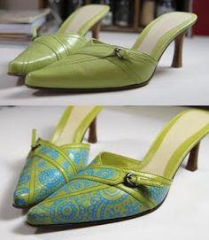 Zapatos reciclados reciclados con tatuaje o diseño : VCTRY's BLOG