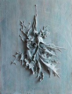 'Leaves' by American artist  sculptor Amy Kann. Bas relief, 30 x 22 in. via the artist's site
