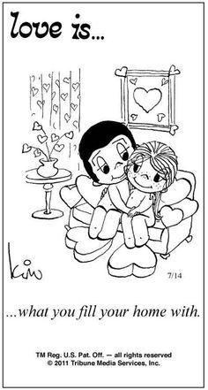 Love Is ... Comic Strip by Kim