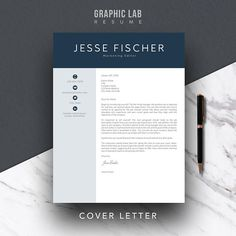 Modern Resume Template Cv Word Creative 1 Page 2 Products
