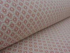 Linen Union Curtain Fabric Diamond Coral