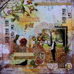 | ... Autumn Gold with Blue Fern Studios chipboard for May sketch challenge