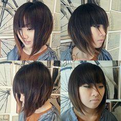 Funky Short Hair, Asian Short Hair, Girl Short Hair, Short Hair Cuts, Short Hair Styles, Vintage Hairstyles, Hairstyles With Bangs, Pretty Hairstyles, Girl Hairstyles