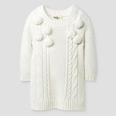 Baby Girls Sweater Dresses Almond Cream - Genuine Kids