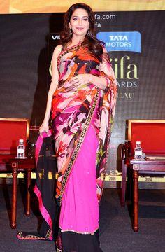 Madhuri Dixit on the IIFA 2013 Green Carpet #Bollywood #Fashion