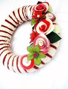 Amazing felt wreath maker on Etsy